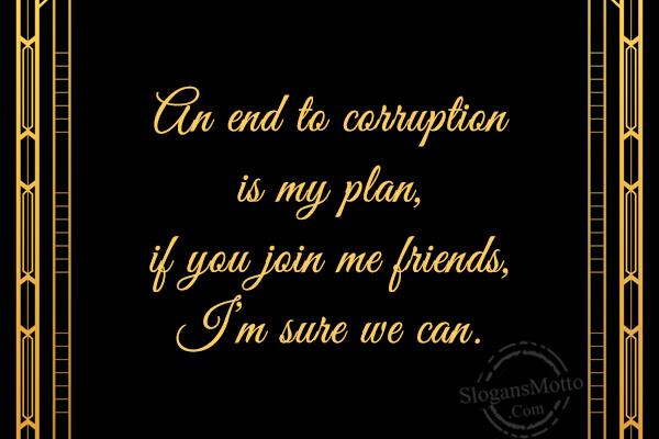 Anti Corruption Slogans