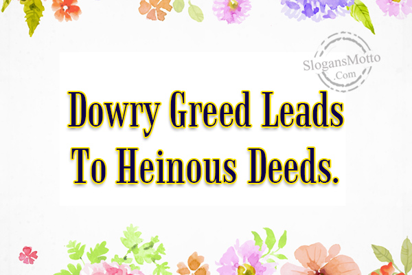 slogans on dowry prohibition
