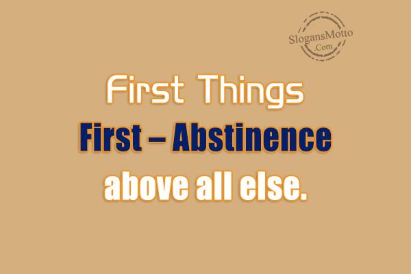 Abstinence Slogans