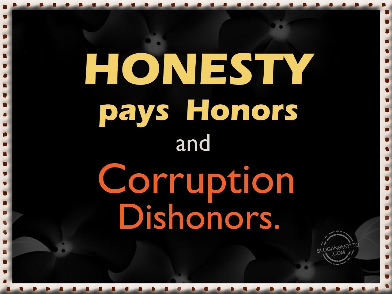 Honesty Slogans
