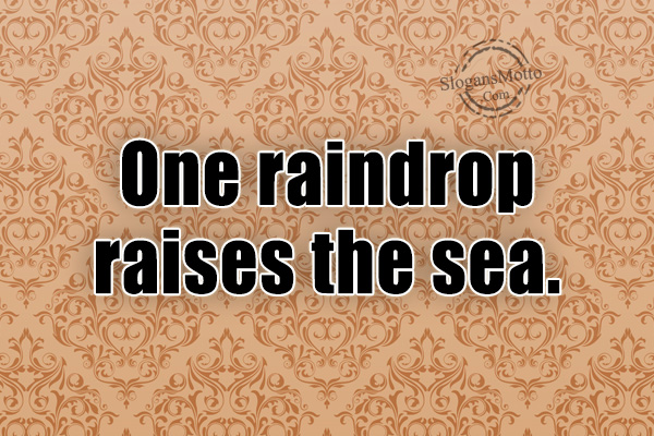 one raindrop raises the sea quote