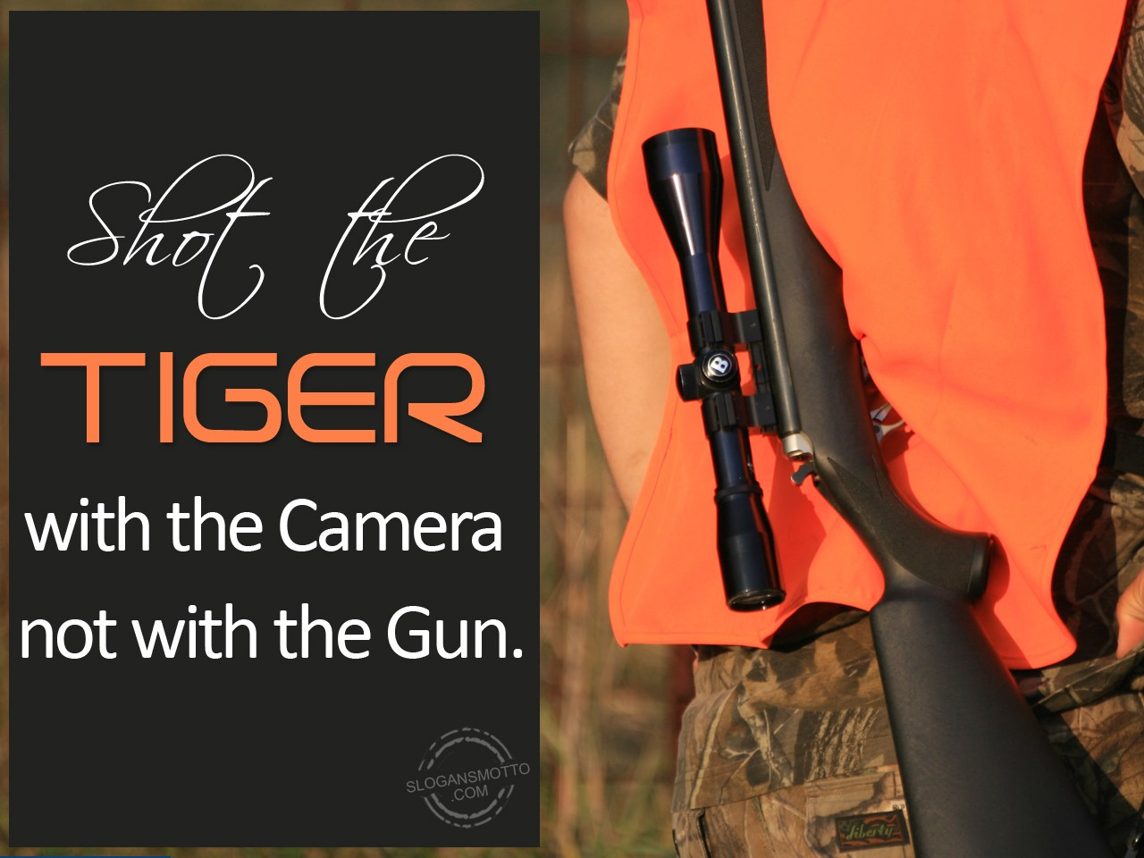 shoot animal with camera not gun Here is a list of ten reasons why it's better to shoot wildlife with a camera, not a  gun 1 shooting an animal with a gun is selfish-the only one to.