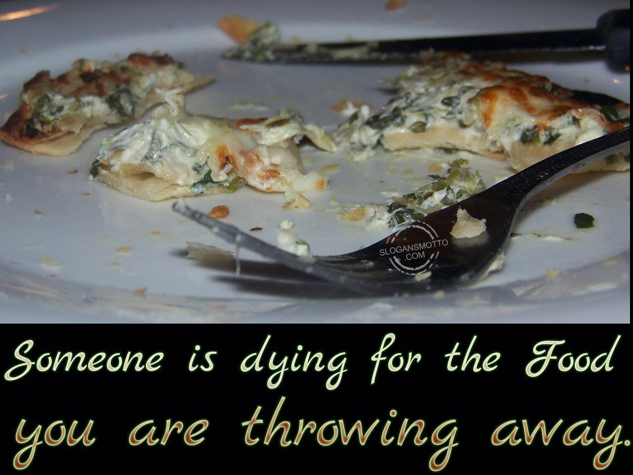 Anti Food Wastage Slogans