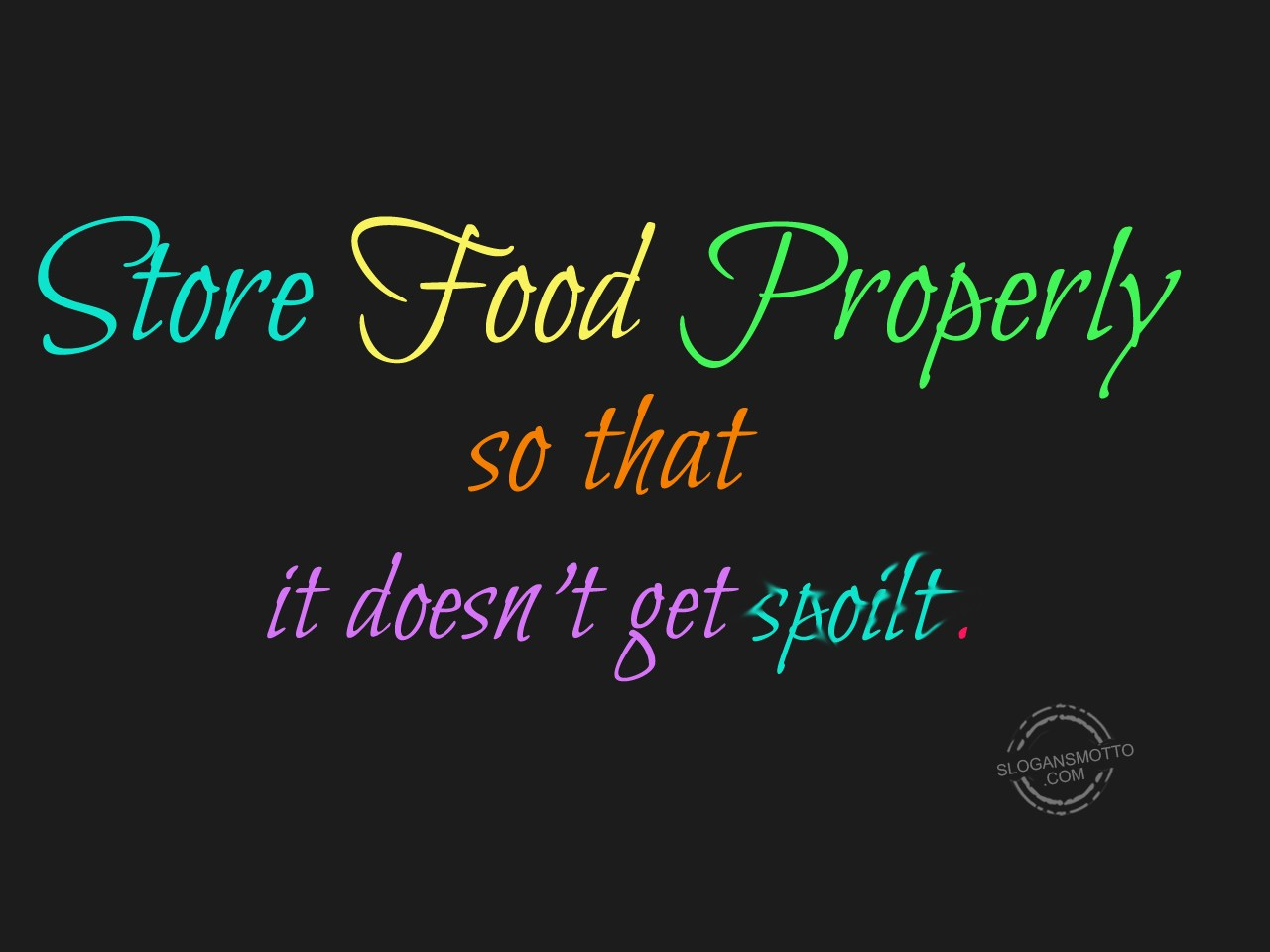 How To Store Food Properly