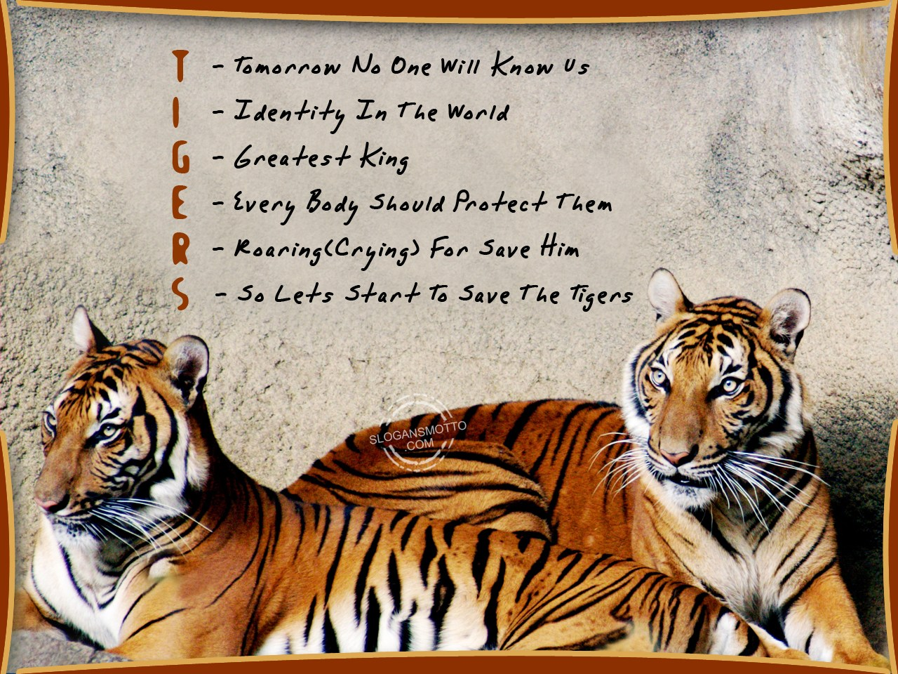 Save tiger essay in english