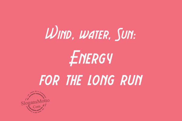 Green Energy Slogans